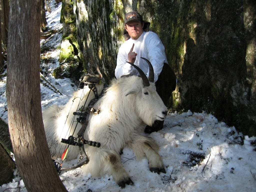 Shad Wheeler with his World Record Mountain Goat